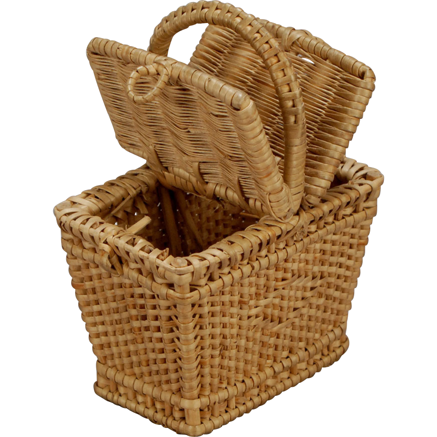 Myer Wicker Picnic Basket : French wicker picnic basket sold on ruby lane