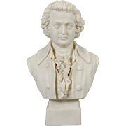 Robinson and Leadbeater Parian Ware Bust of Mozart, circa 1890