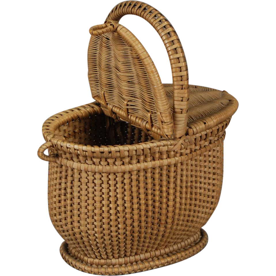 Myer Wicker Picnic Basket : French wicker picnic basket from carmeldoll on ruby lane