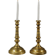 French Brass Candlesticks