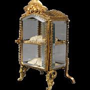 Beveled Glass Jewelry Cabinet