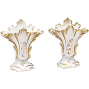 Pair of China Mantel Vases for Fashion Doll