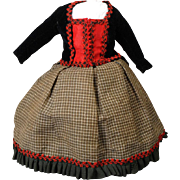 Antique Two-piece Ensemble for French Fashion Doll
