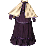 Antique Original Three-piece Fashion Doll Ensemble