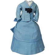 Two-piece Antique Original Fashion Doll Ensemble
