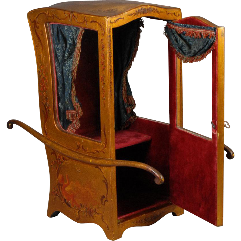 Chaise porteur sedan chair for fashion dolls from for Chaise a porteur