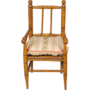 French Turned Wood Armchair
