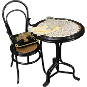 French Doll's Table and Chair