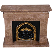 Fashion-scale Marble Fireplace