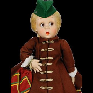 Googly-eyed Lenci Doll