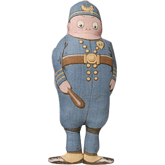 "Arnold Print Works ""Policeman"" Doll"