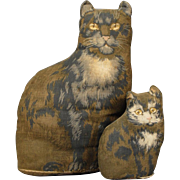 Arnold Print Works Mama Cat and Kitten Set of Dolls