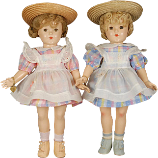 Effanbee Anne Shirley-type Doll Pair