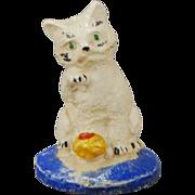 Dollhouse Chalkware Cat