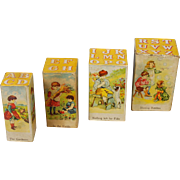 Lithographed Paper Set of Alphabet Blocks