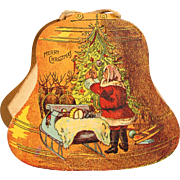 Unusual Printed Carton Christmas Bell Ornament