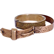 Rare Antique Georgian Secret Locket Buckle Hair Gold Ring