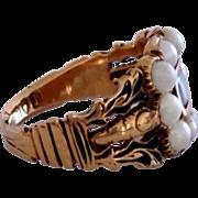 Antique Georgian Regency era 18K Gold Mourning Ring