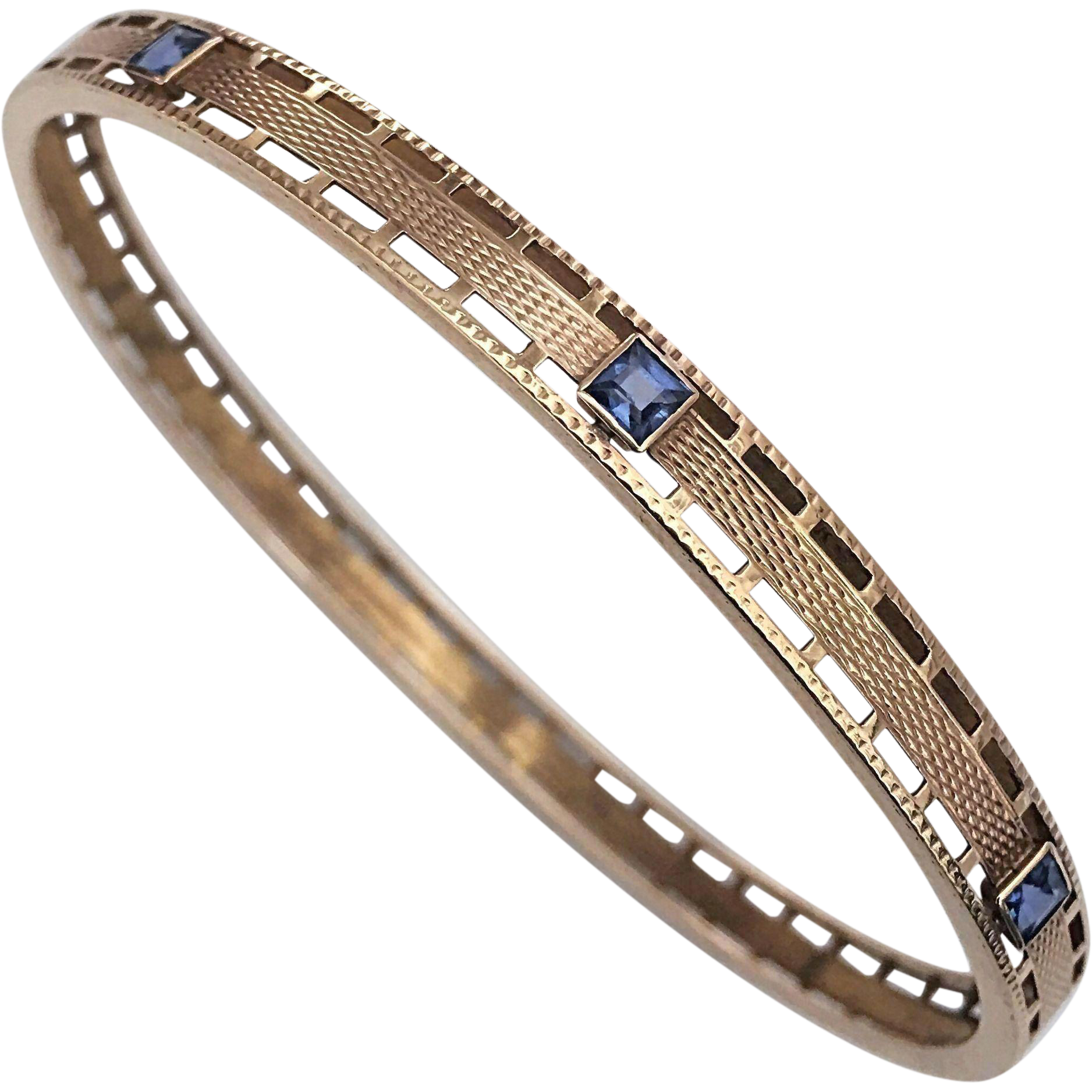 gold estate bangles and white sapphire bracelet bangle diamond jewelers products