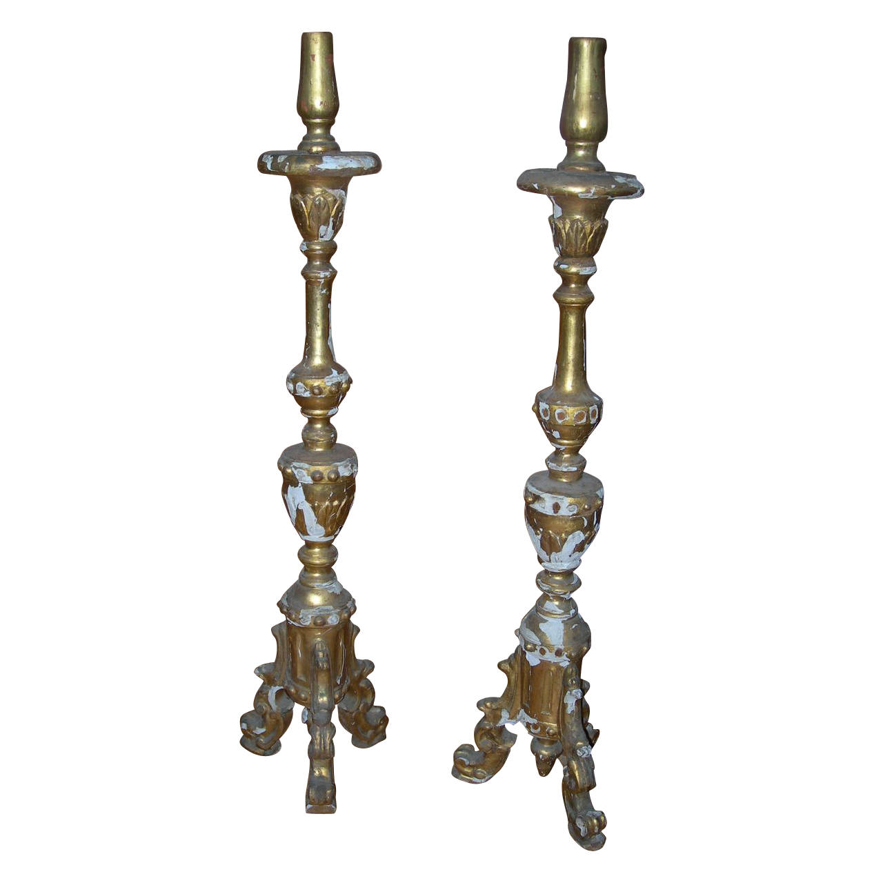 Gold Gilt Florentine Alter Candlesticks