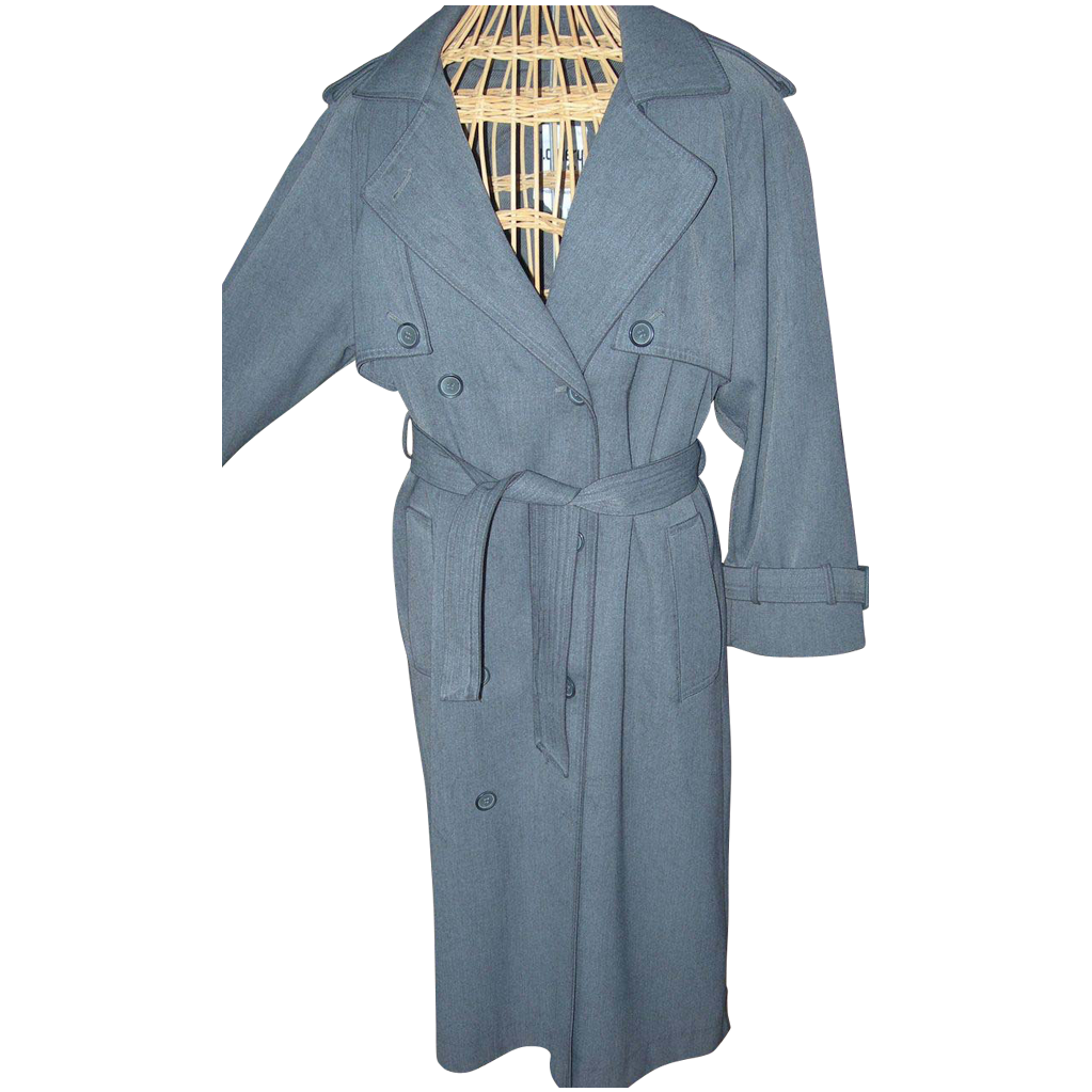 Vintage Trench Coat with Removable Lining