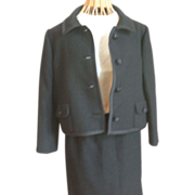 Vintage Ben Zuckerman Black 2-Piece Suit