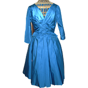 Vintage Taffeta Party Dress Circa 1960's