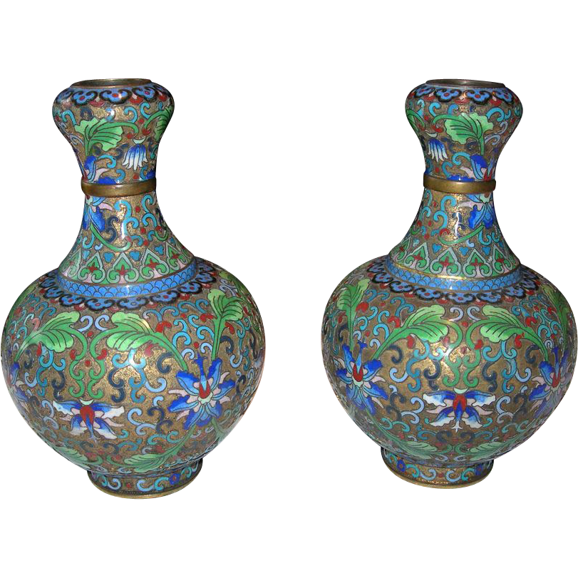 Pair of Jingfa, Chinese Vases