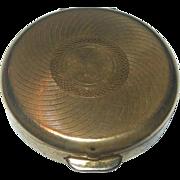 Vintage Round Stratton Pill Case