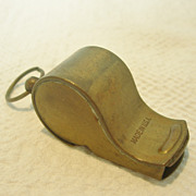 Vintage Brass Military Whistle