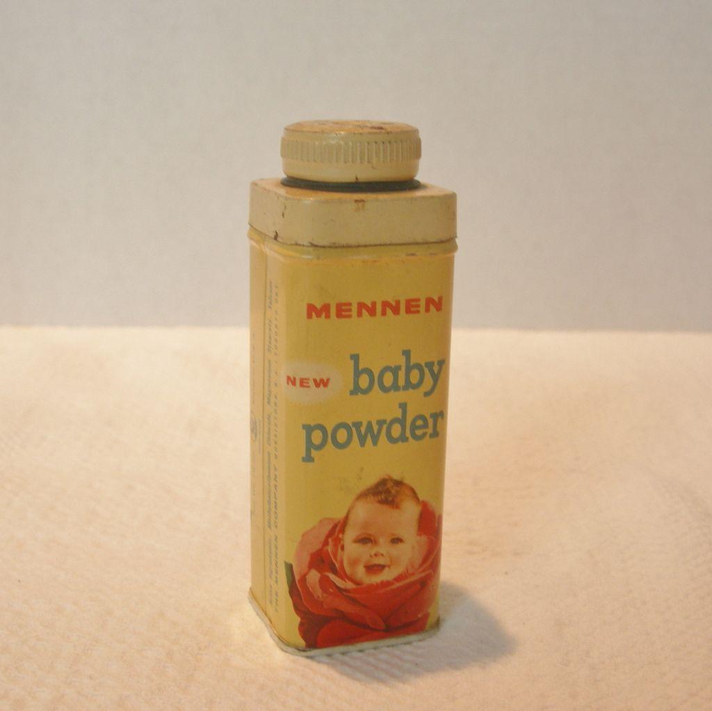 Vintage Mennen Baby Powder Tin