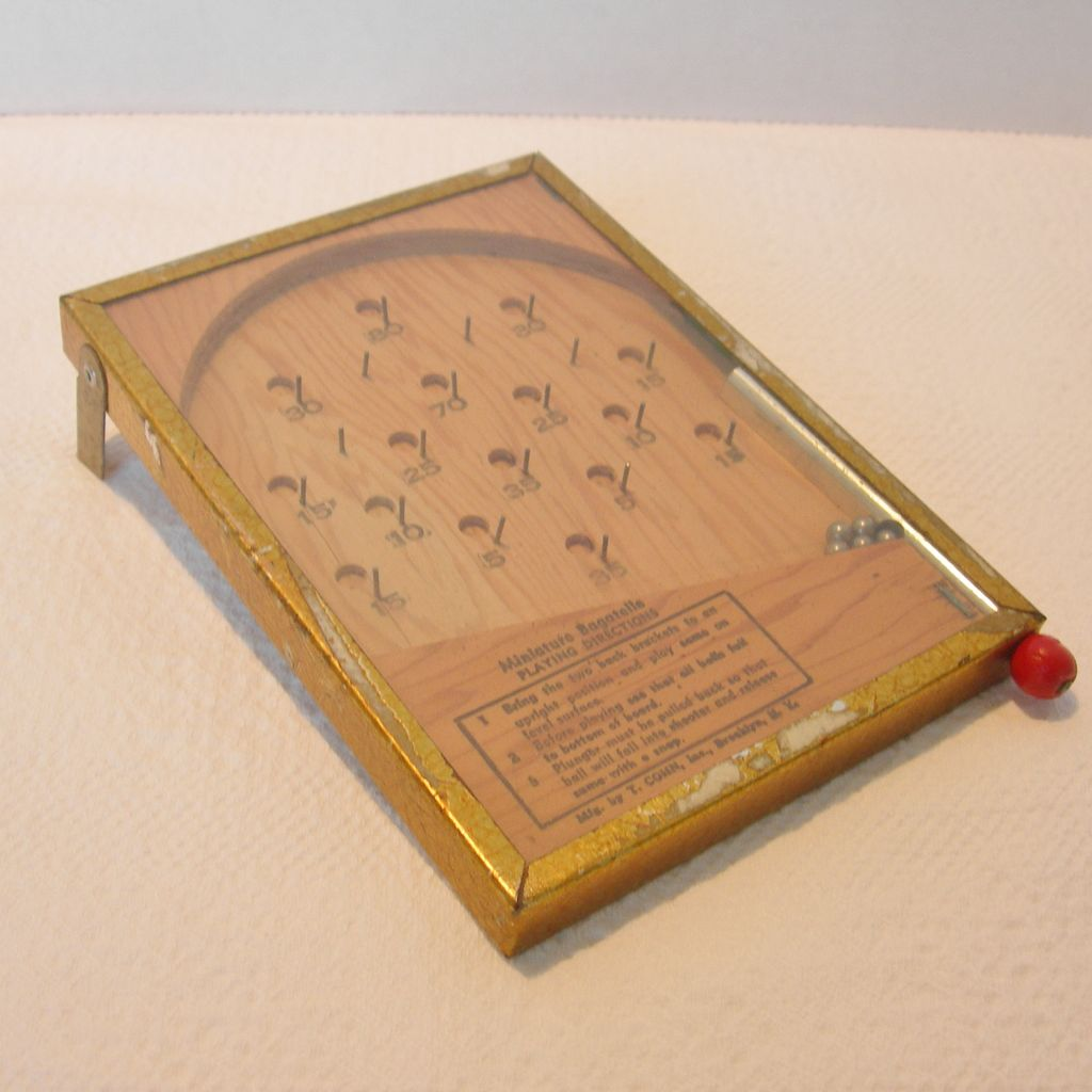 Vintage Miniature Bagatelle Game