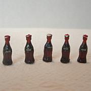 Miniature Set of Coca Cola Bottles