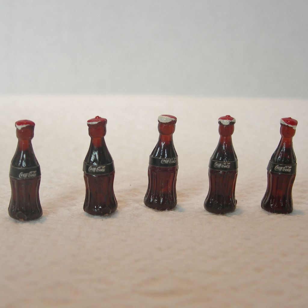 Miniature Set of Coca Cola Bottles