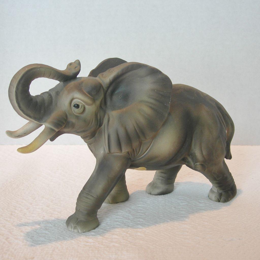 ceramic african elephant figurine from dorothysbling on ruby lane. Black Bedroom Furniture Sets. Home Design Ideas