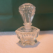 Vintage IRICE Molded Glass Perfume Bottle