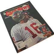 Joe Montana Cover Issue of Baseball Card News Feb 4, 1991
