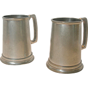 Pair of Vintage Birks Pewter Tankards