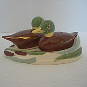 Vintage Ducks on Pond Salt and Pepper Shakers