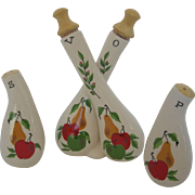 Vintage Three Piece Table Condiment Set