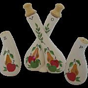 Vintage Three Piece Table Condiment Set