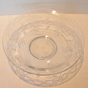 Vintage Fostoria Etched Glass Bowl