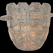 Cut Lead Crystal Vintage Ice Bucket