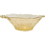 Depression Amber Handled Bowl