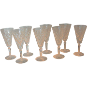 "Set of 8 Waterford Crystal ""TYRONE"" Wine Glasses"