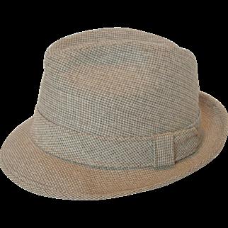 Vintage KNOX New York men's Narrow Brim Tweed Fedora
