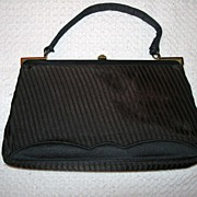 Vintage Morris Moskowitz Satin Evening Handbag