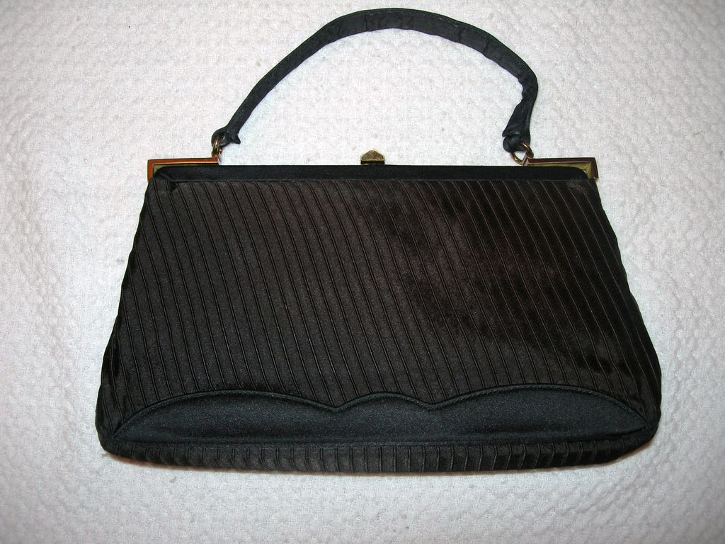 Vintage Morris Moskowitz Satin Evening Handbag