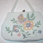 Vintage Glass Beaded Handbag