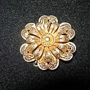 Vintage Filigree Brooch